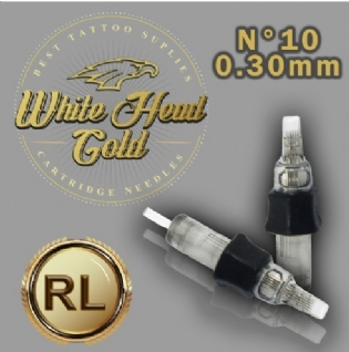 Cartucho White Head Gold - Traço 0,30mm Cx.20 Und.